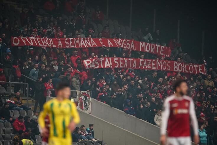 Adeptos do Braga demonstraram o descontentamento