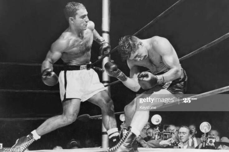 Rocky Marciano em ação no ringue