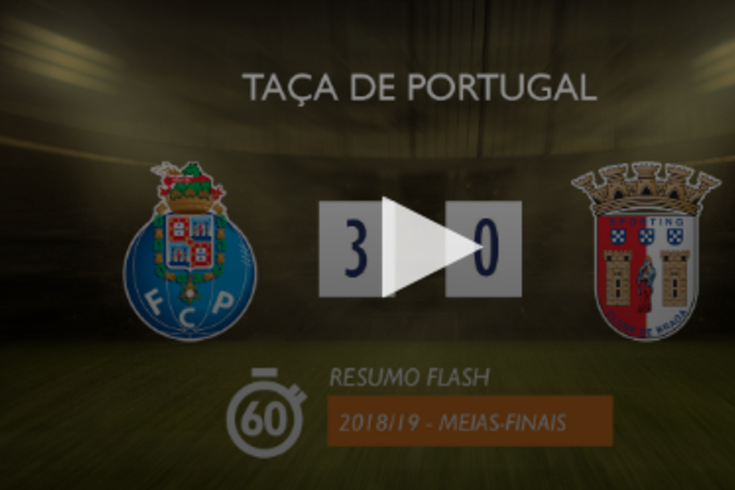 Um minuto para rever o FC Porto-Braga