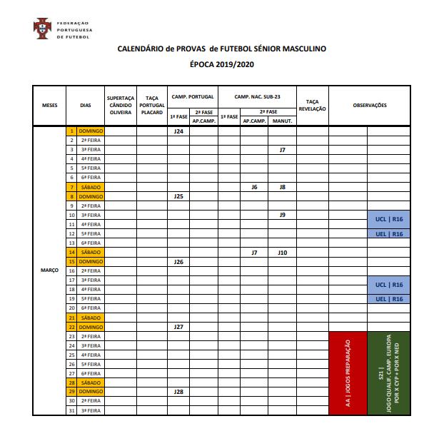 As Calendario Liga 123.Federacao Divulga Calendario Da Epoca 2019 20 A Comecar