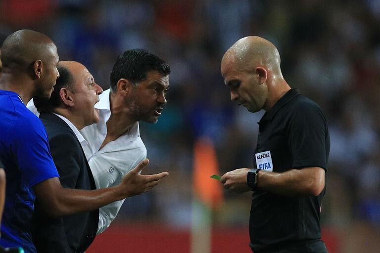 O que disse Sérgio Conceição ao árbitro que lhe vale uma multa 56f1184b75d5d