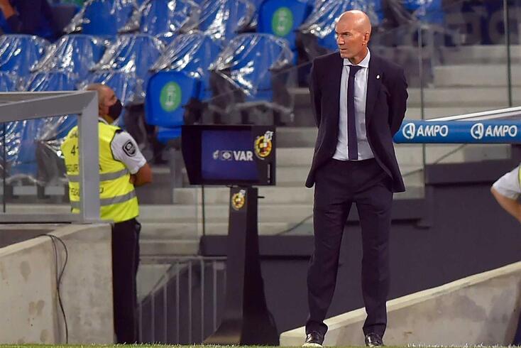 Zinedine Zidane, treinador do Real Madrid