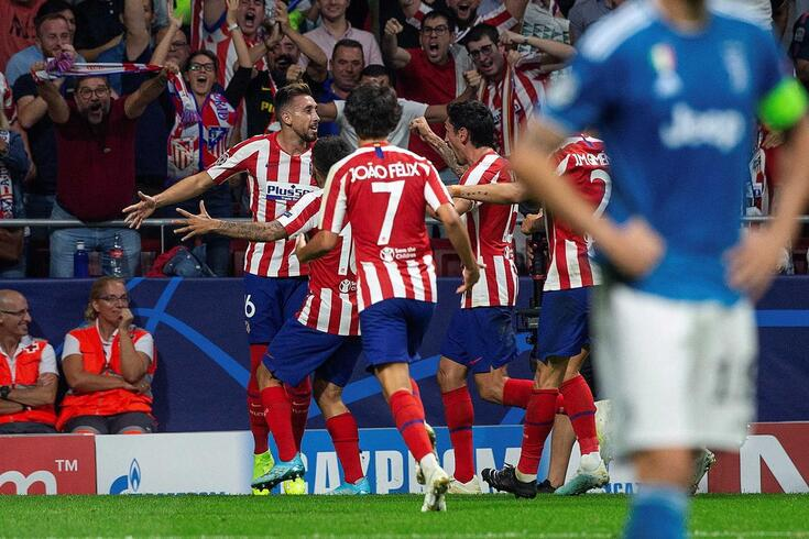 Herrera marcou o golo do empate do Atlético de Madrid frente à Juventus