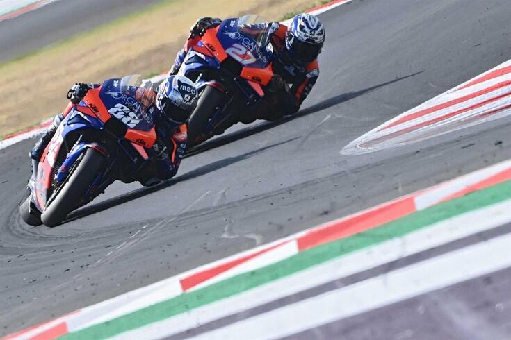 Miguel Oliveira em ação em Itália