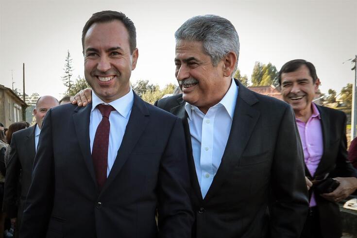 António Salvador e Luís Filipe Vieira lado a lado