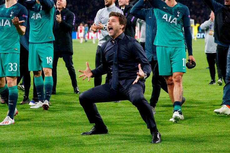 Pochettino celebrou de forma bastante efusiva o apuramento para a final da Champions