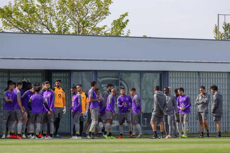 Porto, 16/04/2019 - Decorreu esta tarde no campo de treinos do centro de estádio do Olival, o treino
