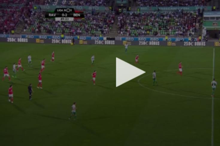 Rio Ave-Benfica: o golo de Tarantini que reduziu a desvantagem para o Rio Ave