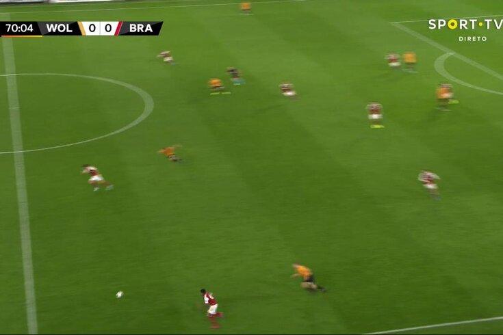 O golo de Ricardo Horta que decidiu o Wolves-Braga