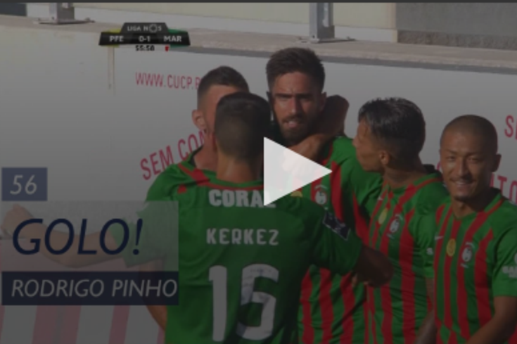 Paços de Ferreira-Marítimo: o golo de Rodrigo Pinho que abriu o marcador