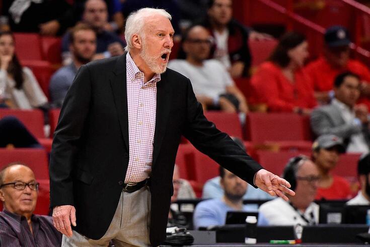 Gregg Popovich, treinador dos dos San Antonio Spurs, tem 71 anos