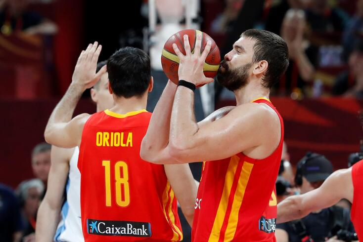 Basketball - FIBA World Cup - Final - Argentina v Spain - Wukesong Sport Arena, Beijing, China - September