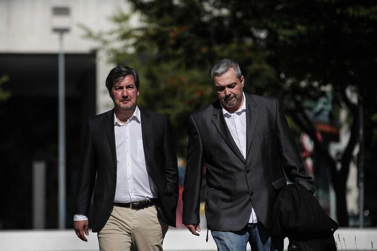 Bruno de Carvalho, antigo presidente do Sporting, e o advogado, Miguel Fonseca