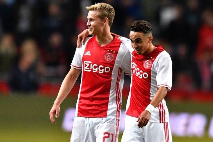 Nouri e Frenkie de Jong jogaram juntos no Ajax