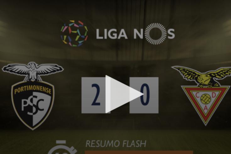 Um minuto que resume a vitória inglória do Portimonense sobre o Aves