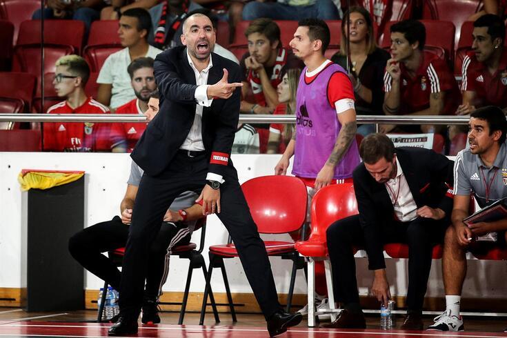 Joel Rocha, treinador da equipa de futsal do Benfica
