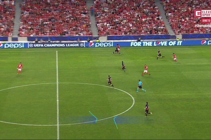 Benfica-Leipzig: Seferovic entra e oito minutos depois marca