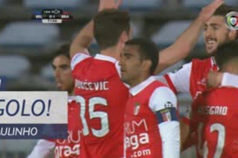 Paulinho fez o 1-0 para o Braga no Restelo, mas antes viu-lhe um golo ser  anulado, o que levaria à expulsão de Abel por protestos. Veja os dois  lances. 063a34dc1f