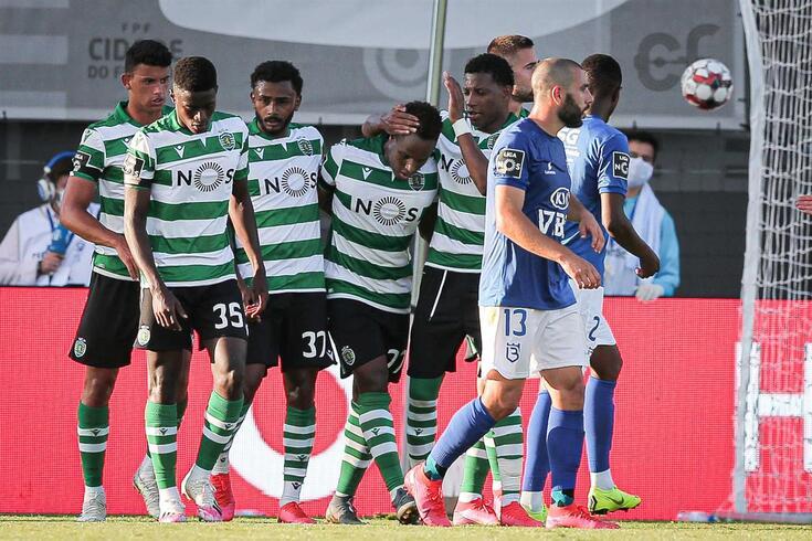 Oeiras, 26/06/2020 - O Belenenses SAD recebeu esta tarde na Cidade do Futebol em Oeiras, o Sporting Clube