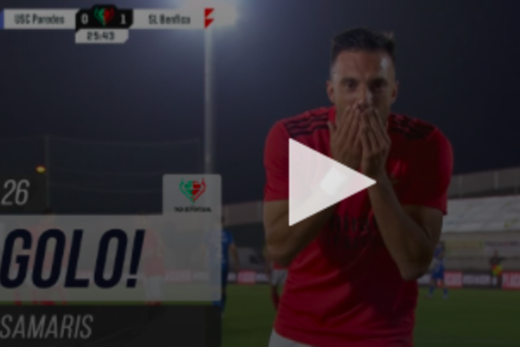Samaris abriu o marcador do Paredes-Benfica