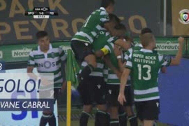 Foi assim que Jovane Cabral resolveu o Sporting-Feirense
