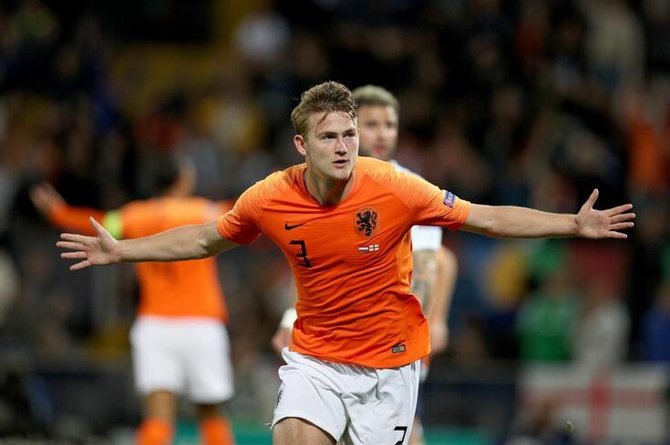 De Ligt marcou um dos golos holandeses