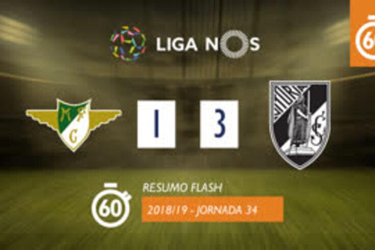 O V. Guimarães venceu por 3-1 em casa do Moreirense