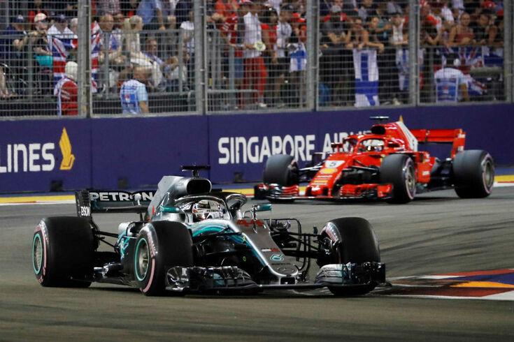 Hamilton vence GP de Singapura e reforça liderança
