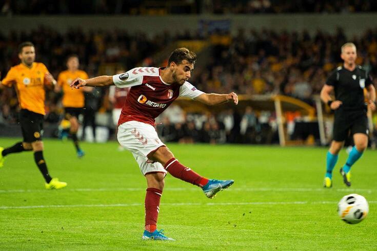 Foi desta forma que Ricardo Horta fez o golo do Braga em Wolverhampton.