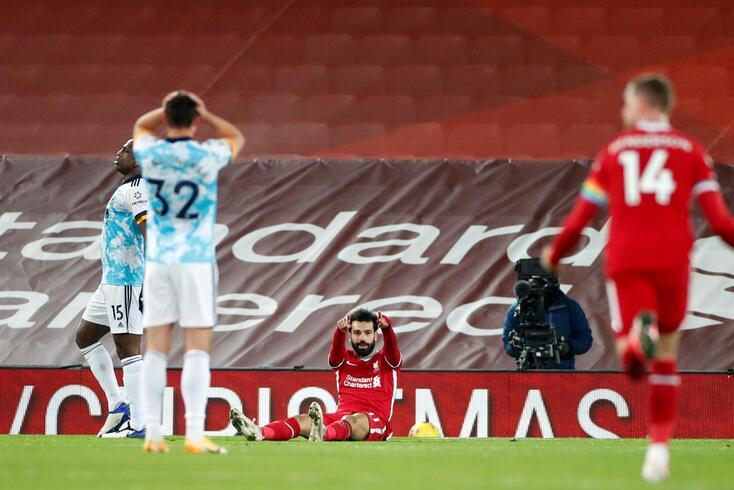 Salah marcou o décimo primeiro gol nesta temporada