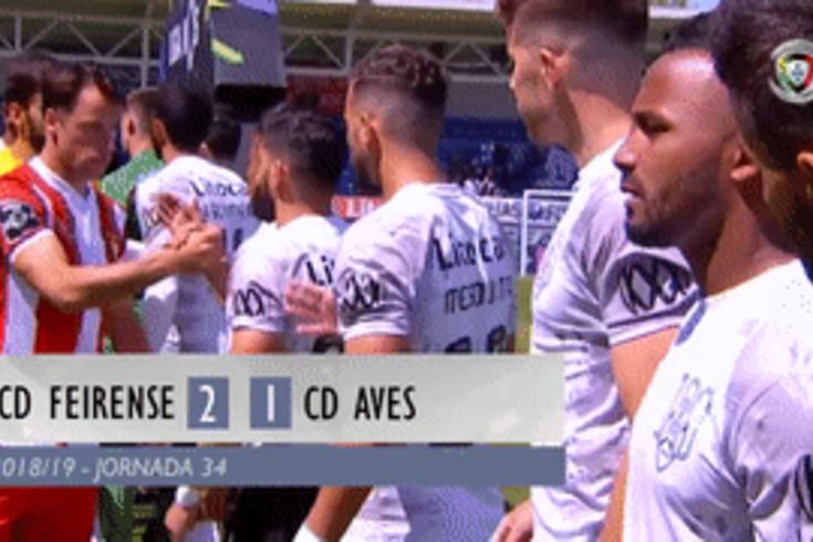 O triunfo do Feirense sobre o Aves na despedida da I Liga em 60 segundos
