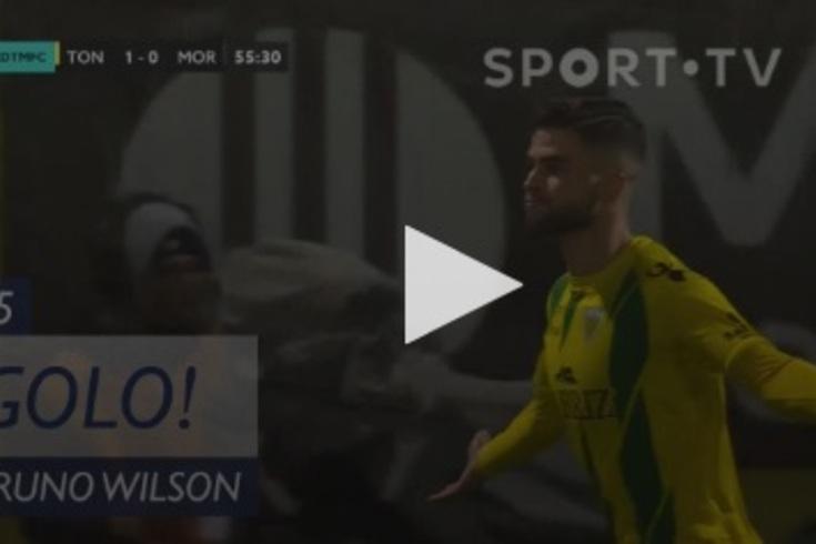 Bruno Wilson abriu o marcador no Tondela-Moreirense