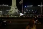 A festa azul também no Marquês de Pombal em Lisboa e com fogo de artifício