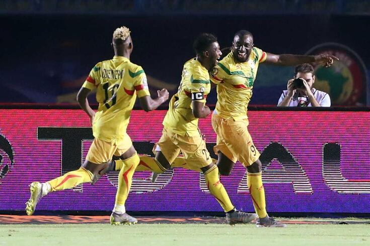 Marega (à direita) marcou um dos golos com que o Mali bateu a Mauritânia