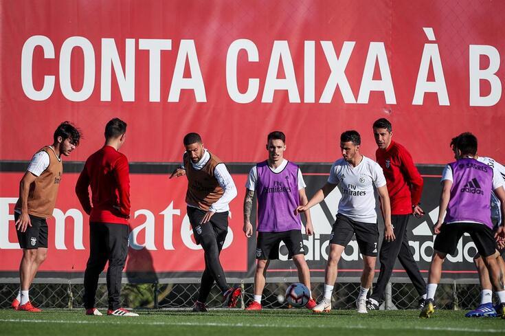 Seixal, 09/02/2019 - O SL Benfica realizou esta tarde, um treino aberto na Caixa Futebol Campus, no Seixal