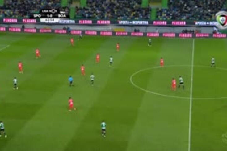 Sporting-Boavista: Diaby assiste e Bruno Fernandes festeja golaço