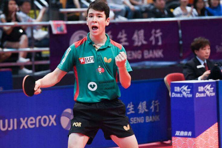 Tiago Li na corrida para o quadro principal dos Mundiais de juniores