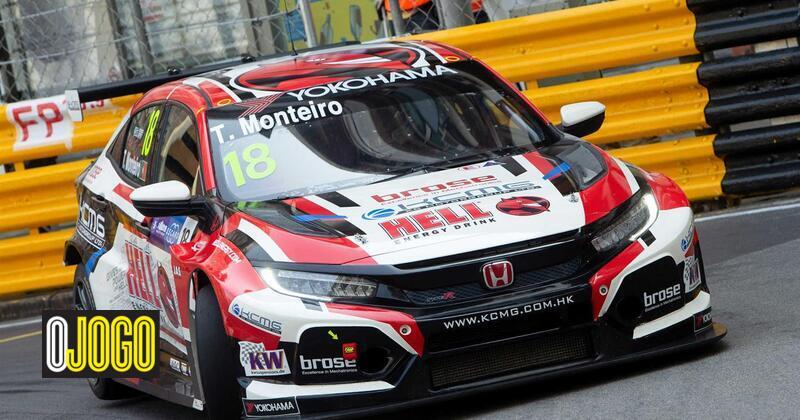"""Tiago Monteiro no 15.º lugar em Macau: """"Mais uma vez foi um bocado frustrante"""" - O Jogo"""