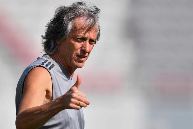 Jorge Jesus, treinador do Flamengo, no foco da polémica no Brasil