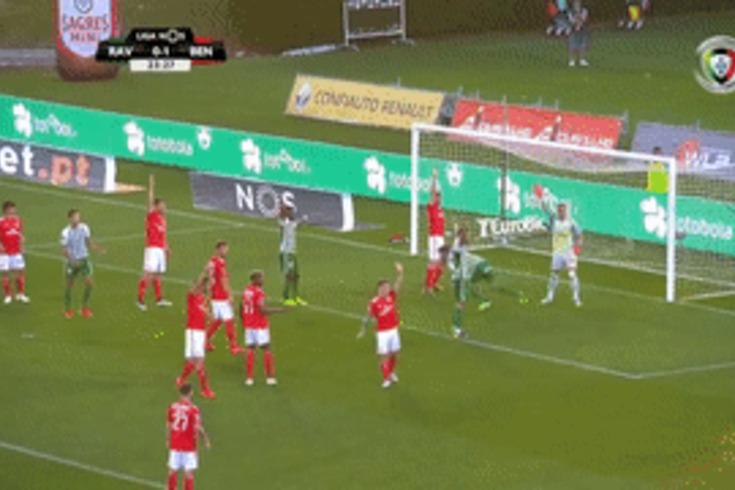 Rio Ave-Benfica: o lance do golo anulado a Tarantini