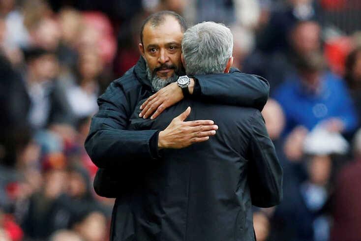 Nuno Espírito Santo e José Mourinho