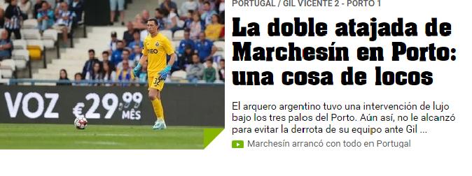 """Analisam Marchesín e garantem que viram """"uma coisa de loucos"""" em Barcelos"""