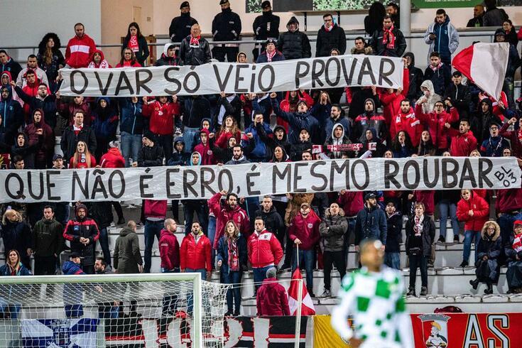 Tarja no Moreirense-Braga