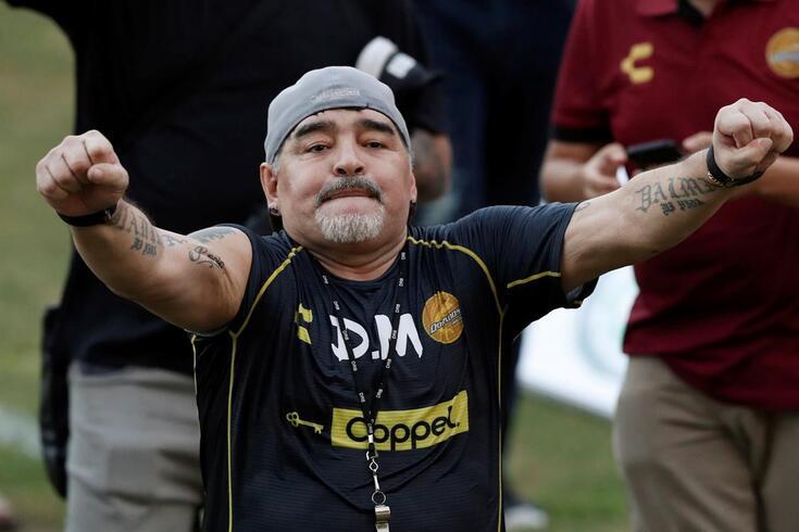 Maradona, agora treinador no México