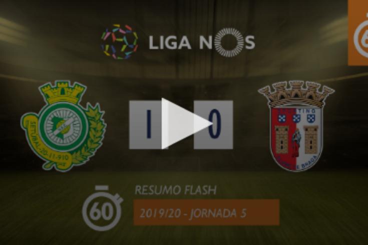 O resumo do V. Setúbal-Braga em apenas 60 segundos