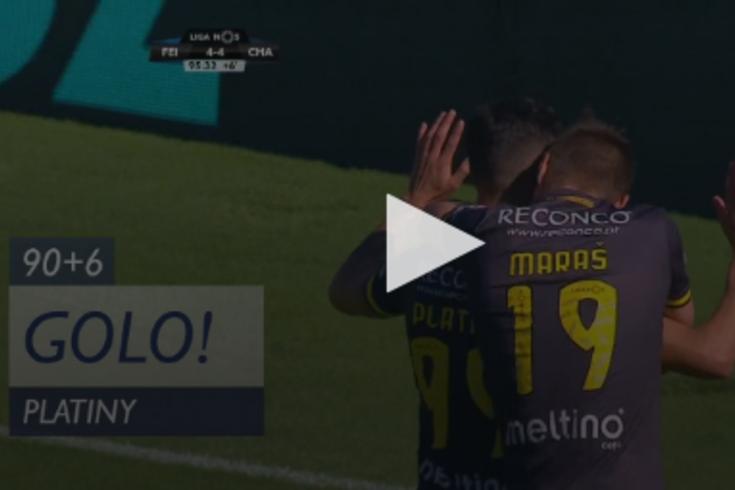 Feirense-Chaves: o golo do empate nos últimos segundos