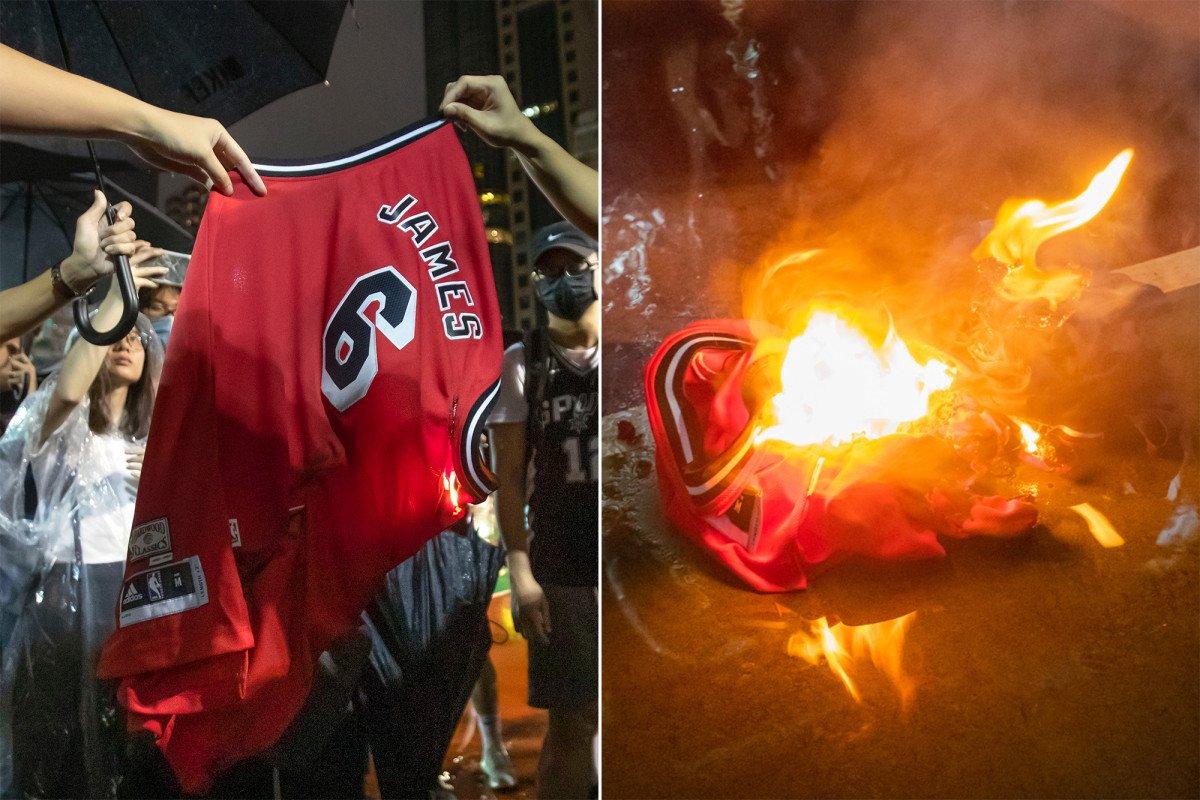 LeBron James falou de Hong Kong e agora ardem camisolas da estrela da NBA