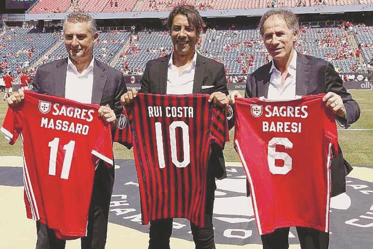 Daniele Massaro, Rui Costa e Franco Baresi