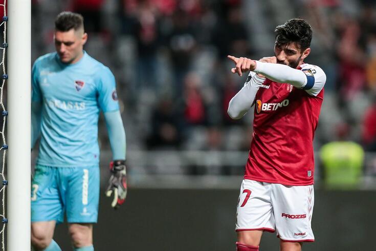 Esgaio festeja um golo marcado ao Gil Vicente