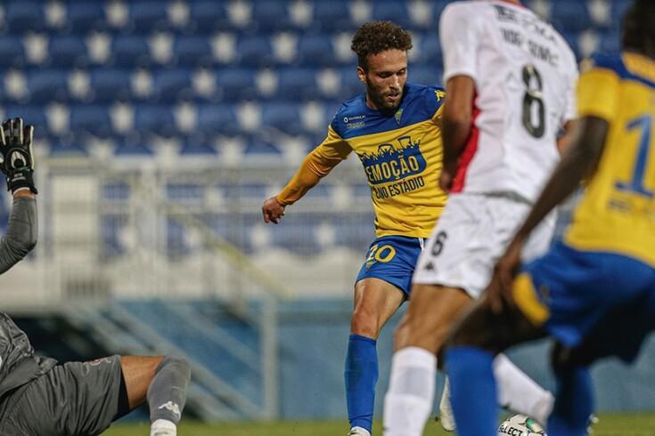 Zé Valente marcou o golo do Estoril frente ao Leixões